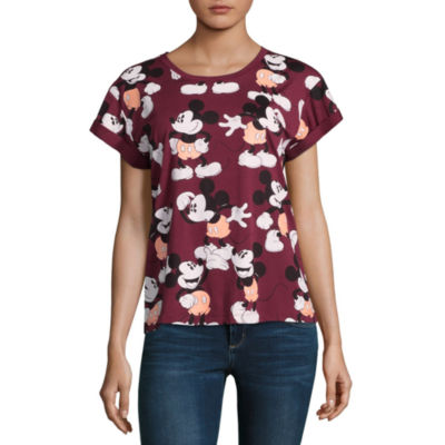 Mickey Mouse Allover Print Tee - Juniors