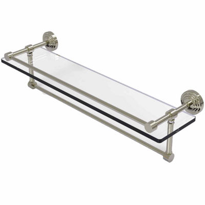 Allied Brass 22 IN Gallery Glass Shelf With TowelBar