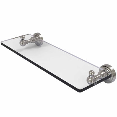 Allied Brass Waverly Place Collection 16 IN GlassVanity Shelf With Beveled Edges