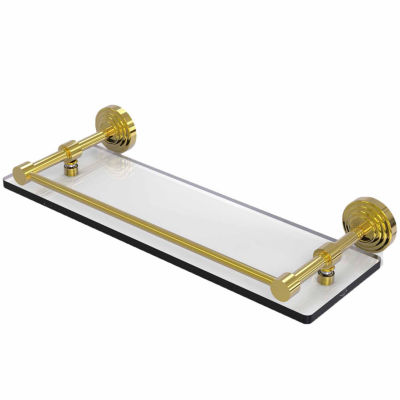 Allied Brass Waverly Place 16 IN Tempered Glass Shelf With Gallery Rail