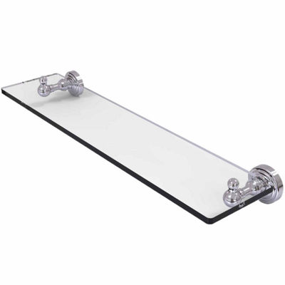 Allied Brass Waverly Place Collection 22 IN GlassVanity Shelf With Beveled Edges
