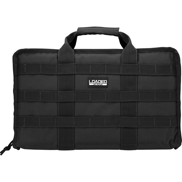 "Loaded Gear RX-50 16"" Dual Pistol Case w/ 4 Mag Pouches"