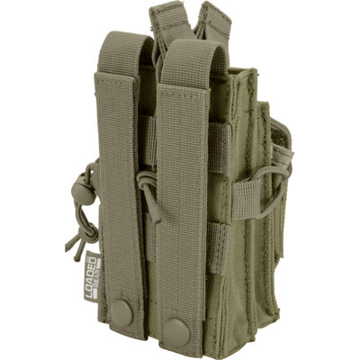 Loaded Gear CX-2000 Single Rifle+Pistol Mag PouchOD Green