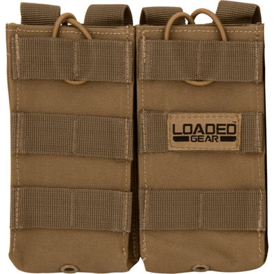 Loaded Gear CX-900 Double Section Mag Pouch Dark Earth