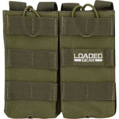 Loaded Gear CX-900 Double Section Mag Pouch OD Green