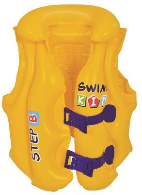 """Yellow Swim Kid """"Step B"""" Inflatable Unisex Water or Swimming Pool Training Vest - Up to 66lbs"""