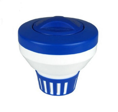 "7.5"" Classic Blue and White Floating Swimming Pool Chlorine Dispenser"