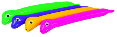 Pack of 2 Purple and Yellow Dinosaur Twisty Tube Inflatable Swimming Pool Toys 63