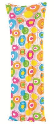 "72"" Colorful Circle Print Inflatable Air Mattress Swimming Pool Raft Float"