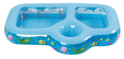 "35"" Inflatable Sand and Sea Three Compartment Children's Play Pool"