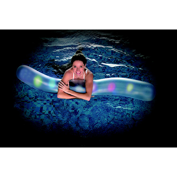 "69.25"" LED Lighted Inflatable Swimming Pool Noodle Toy"