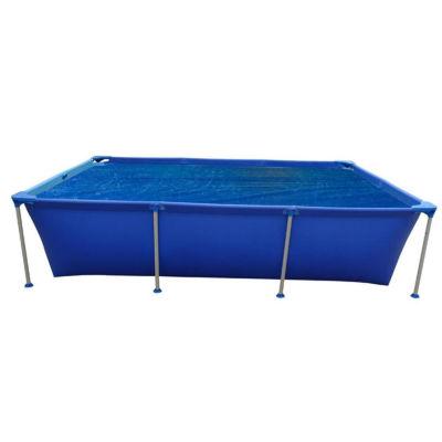 9.6' Blue Rectangular Floating Solar Cover for Steel Frame Swimming Pool