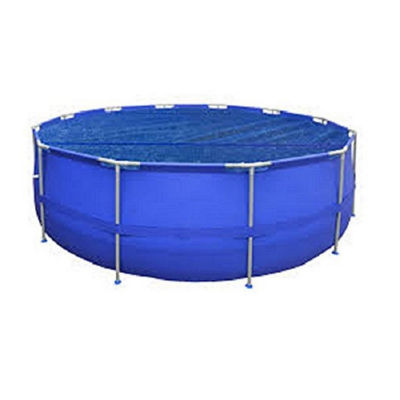 10.8' Round Blue Floating Solar Cover for Steel Frame Swimming Pools