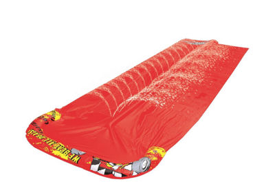 "200"" Crimson Red ""We Beat All Deals!"" Dual Ground Level Water Slide"