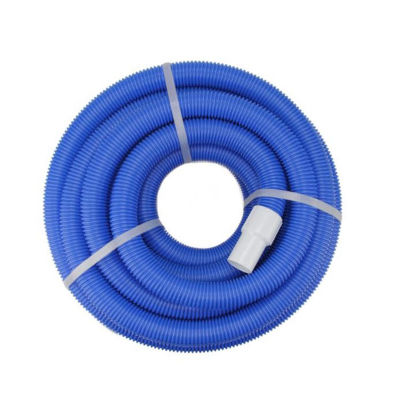 Blue Blow-Molded PE In-Ground Swimming Pool Vaccum Hose with Swivel Cuff - 25' x 1.5""