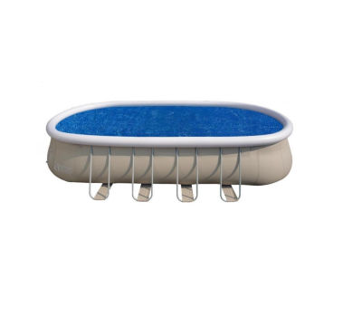 22' Blue Oval Floating Solar Cover for Steel Frame Swimming Pool