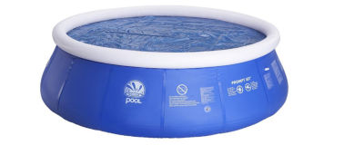 14.4' Blue Round Floating Solar Prompt Set Swimming Pool Cover