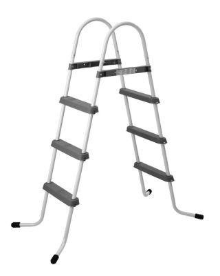 "56.3"" Three Step Above Ground Swimming Pool Deck Ladder"