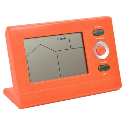 Orange Wireless Digital Swimming Pool Thermometerwith Receiver Station