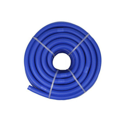 Blue Blow-Molded PE In-Ground Swimming Pool Cuttable Vacuum Hose - 147.5' x 1.25