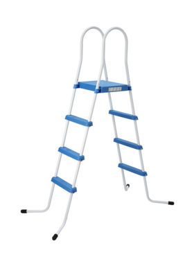 "72.4"" Three Step Above Ground Swimming Pool Deck Ladder with Platform"