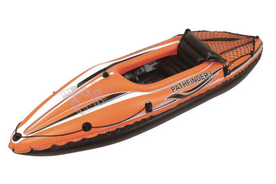 "108"" Orange and Black Pathfinder I Inflatable Single Person Kayak"
