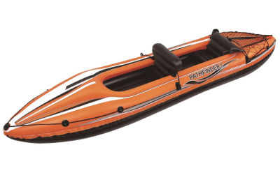 "138"" Orange and Black Pathfinder I Inflatable Two Person Kayak"
