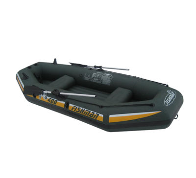 9.5' Green and Yellow Three Person Inflatable Fishing Boat Set