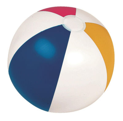 """16"""" Classic Inflatable 6-Panel Beach Ball Swimming Pool Toy"""