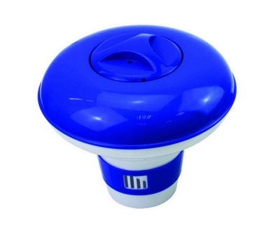 "8.5"" Deluxe Large Blue and White Floating Swimming Pool Chlorine Dispenser"