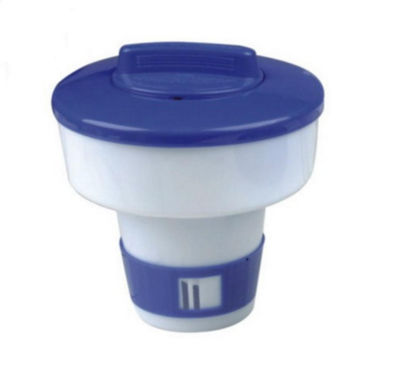 """7"""" Classic Blue and White Floating Swimming Pool Chlorine Dispenser"""