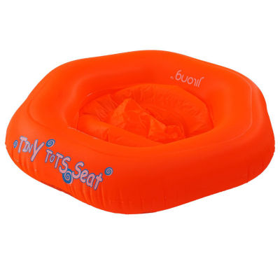 """29"""" Blue and White Swirl on Red Children's Inflatable Swimming Pool Baby Seat Float"""
