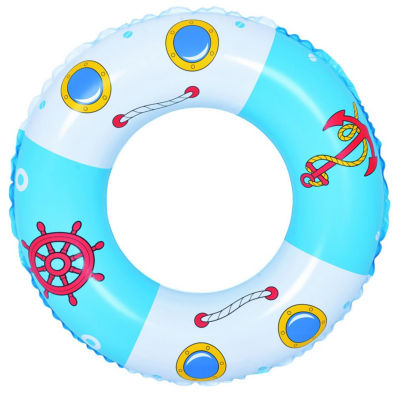 """30"""" Blue and White Boat and Anchor Inflatable Swimming Pool Inner Tube Ring Float"""