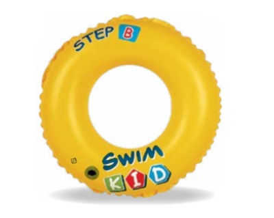 "20"" Yellow Swim Kid ""Step B"" Inflatable Swimming Pool Ring Inner Tube for Kids 3-6 Years"""