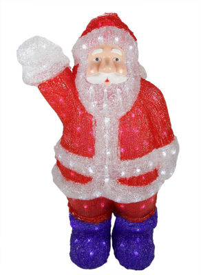 """24"""" Lighted Commercial Grade Acrylic Santa Claus Christmas Display Decoration"""""""