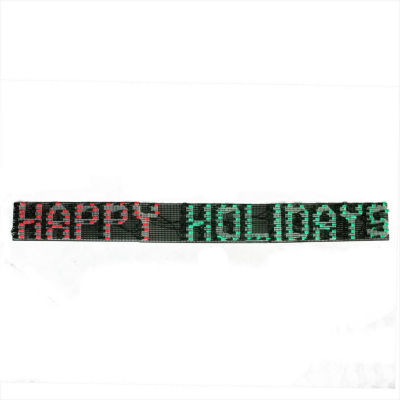 "60"" x 6"" Happy Holidays LED Lighted Christmas Banner - Red and Green Lights"""