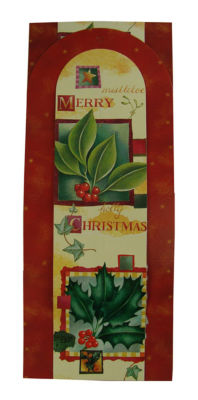 Club Pack of 144 Holly Berry Wall Hanging Christmas Greeting Card Holders