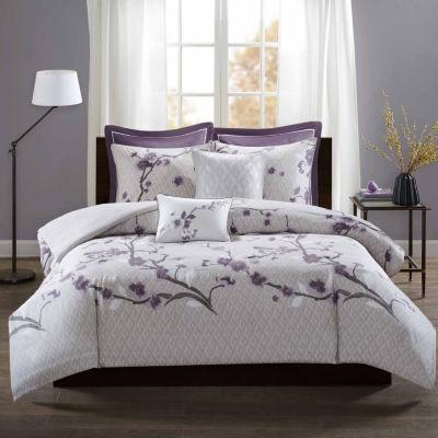 Madison Park Isabella Cotton 7-pc. Floral Duvet Cover Set