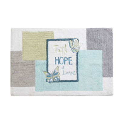 Madison Park Inspiration Embroidered Cotton Bath Rug