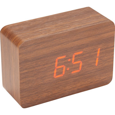Natico Original LED Display Wood Clock