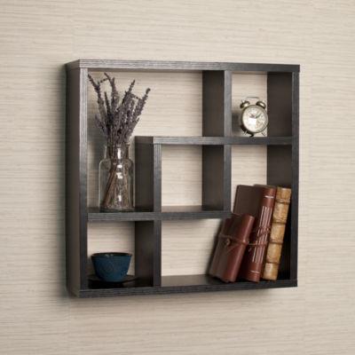 Danya B. Geometric Square  Wall Shelf with 5 Openings