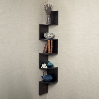Danya B. Large Laminated Corner Wall Mount Shelf