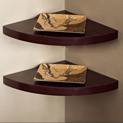 Danya B. Corner Radial Shelves (Set of 2)
