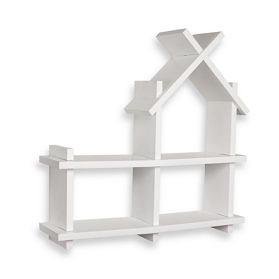 Danya B. House Design White Wall Shelf