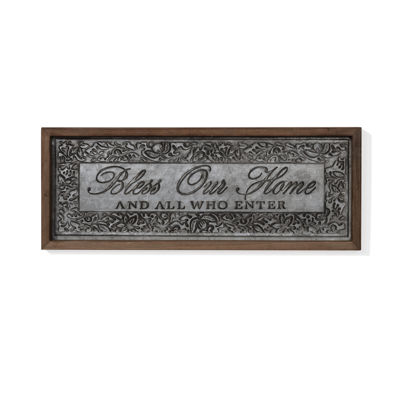 "Danya B. ""Bless Our Home"" Framed Metal Art"""