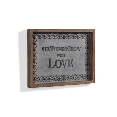 "Danya B. ""All Things Grow with Love"" Framed MetalArt"""