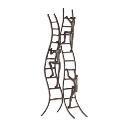 Danya B. Climbing to Success Stairway Iron Wall Piece