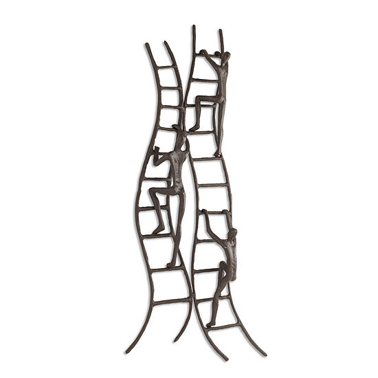 Danya B. Climbing to Success Stairway Iron Wall Piece