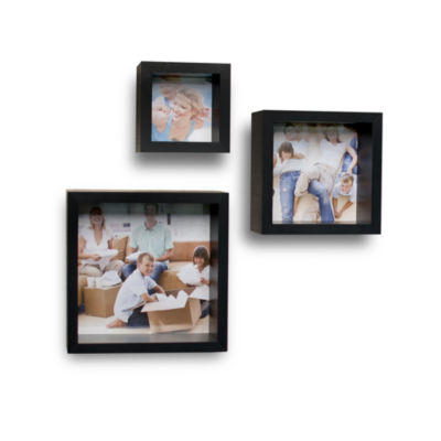 Danya B. Photo Frame Wall Cube Shelf Set (Set of 3)
