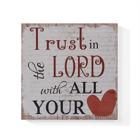 "Danya B. ""Trust in the Lord"" Wooden Wall Art"""